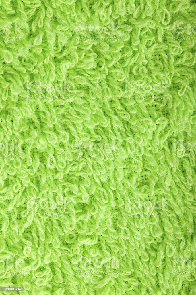 Green towel texture royalty-free stock photo