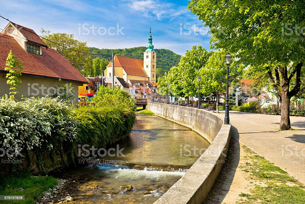 Green town of Samobor view stock photo