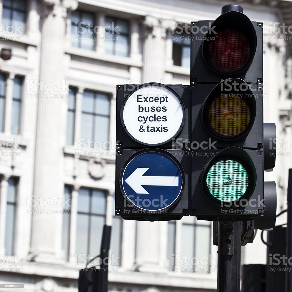 Green traffic  light downtown. royalty-free stock photo