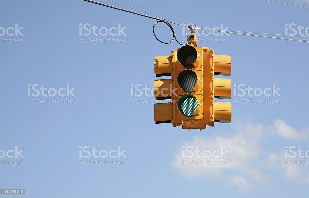 Green traffic light royalty-free stock photo