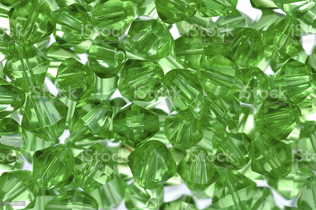 Green Transparent Beads royalty-free stock photo