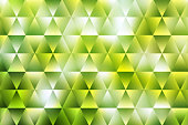 Green Triangle Pattern Abstract Background