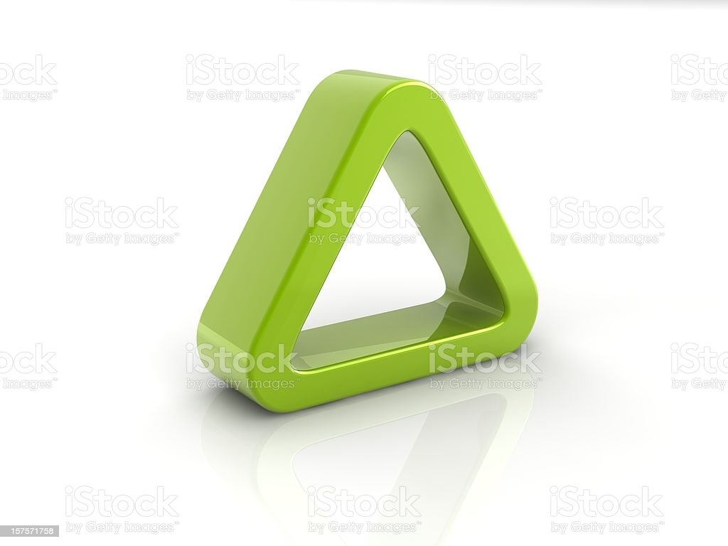 green triangle royalty-free stock photo