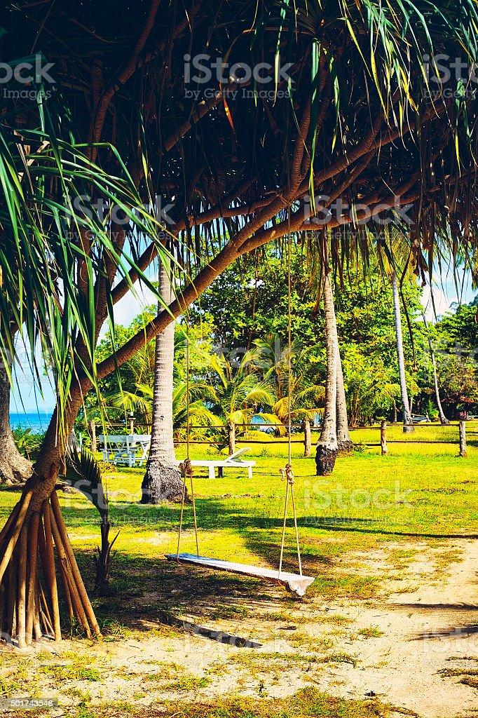 Green Tropical Resort stock photo