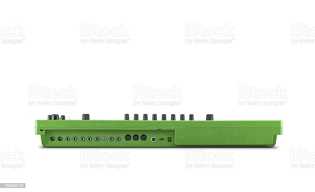 green  tuner isolated stock photo