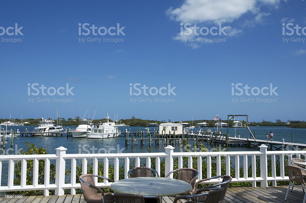 Green Turtle Cay Harbour stock photo