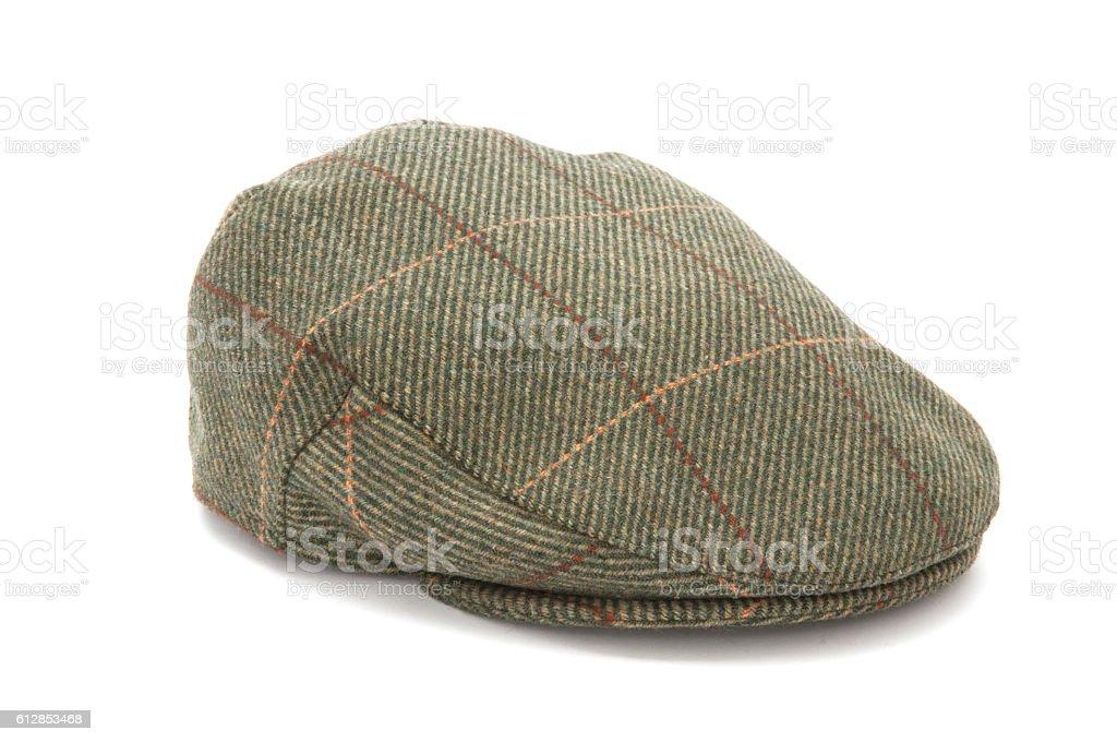 Green Tweed Hunting Flat Cap stock photo