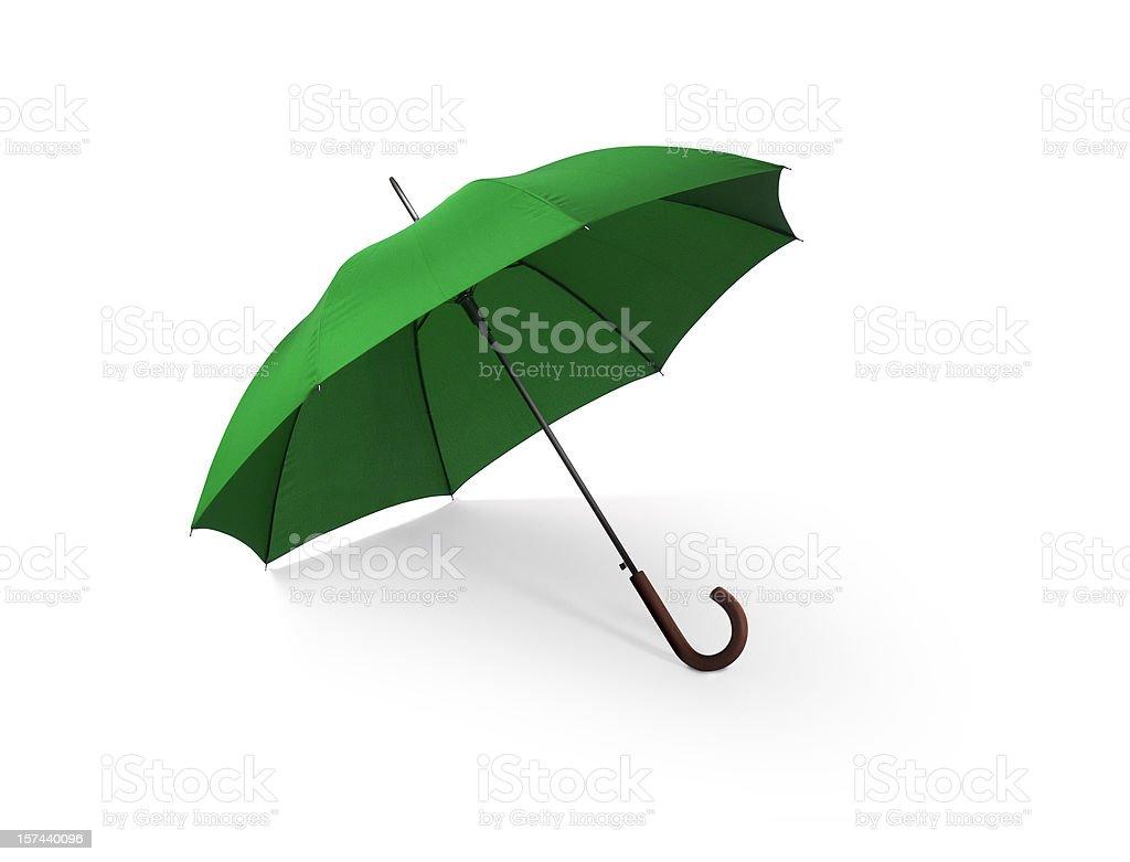 Green Umbrella w/Clipping Path royalty-free stock photo