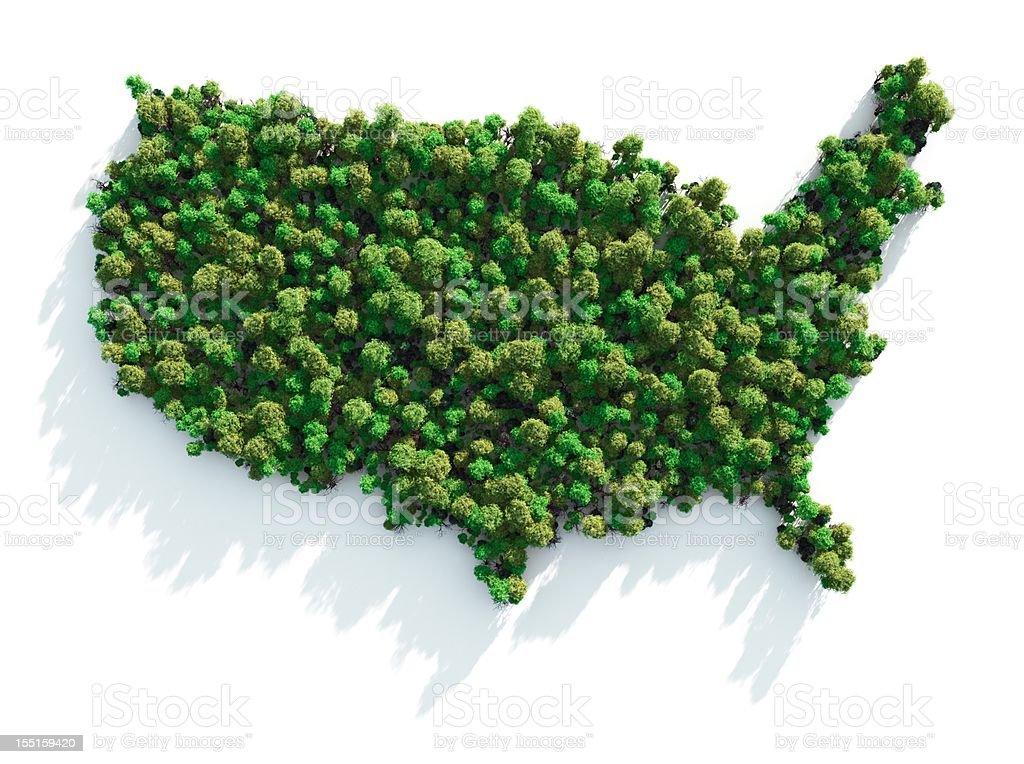 Green USA stock photo