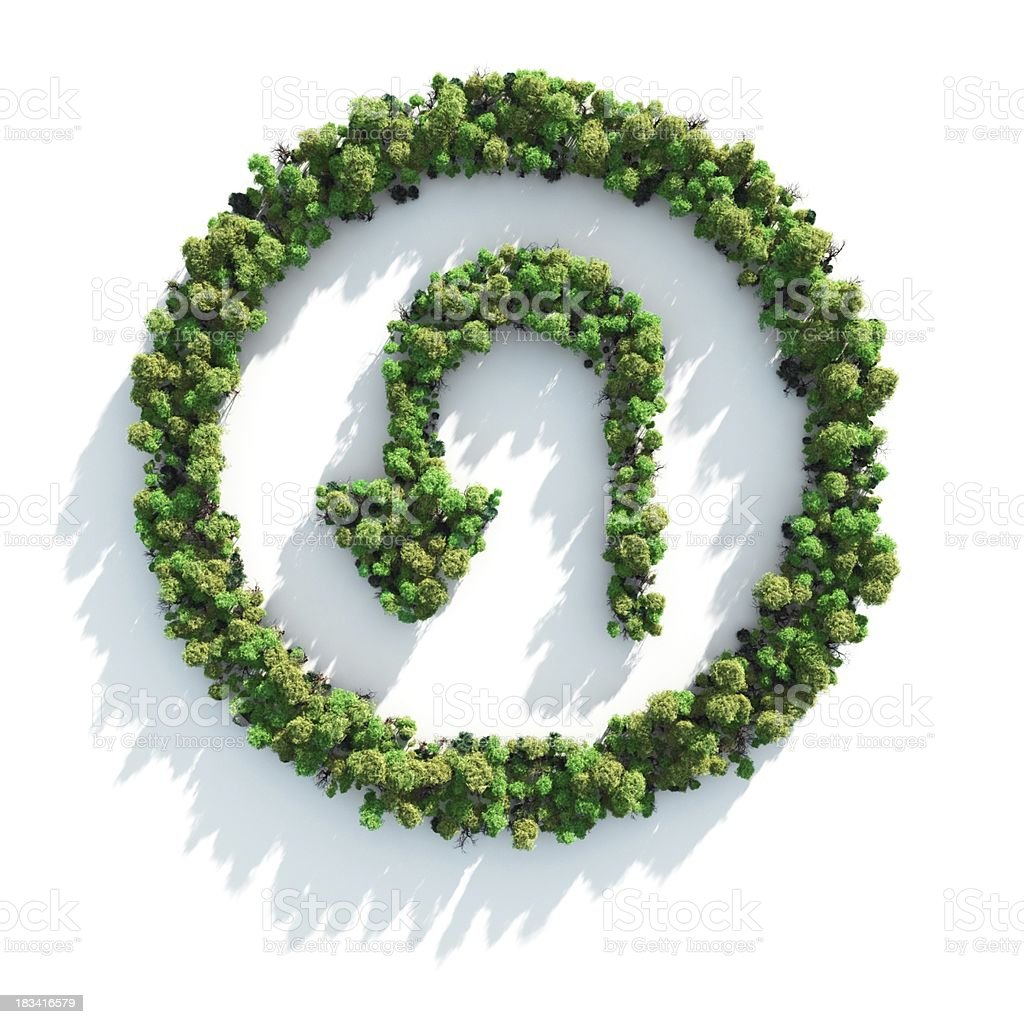 Green U-Turn royalty-free stock photo