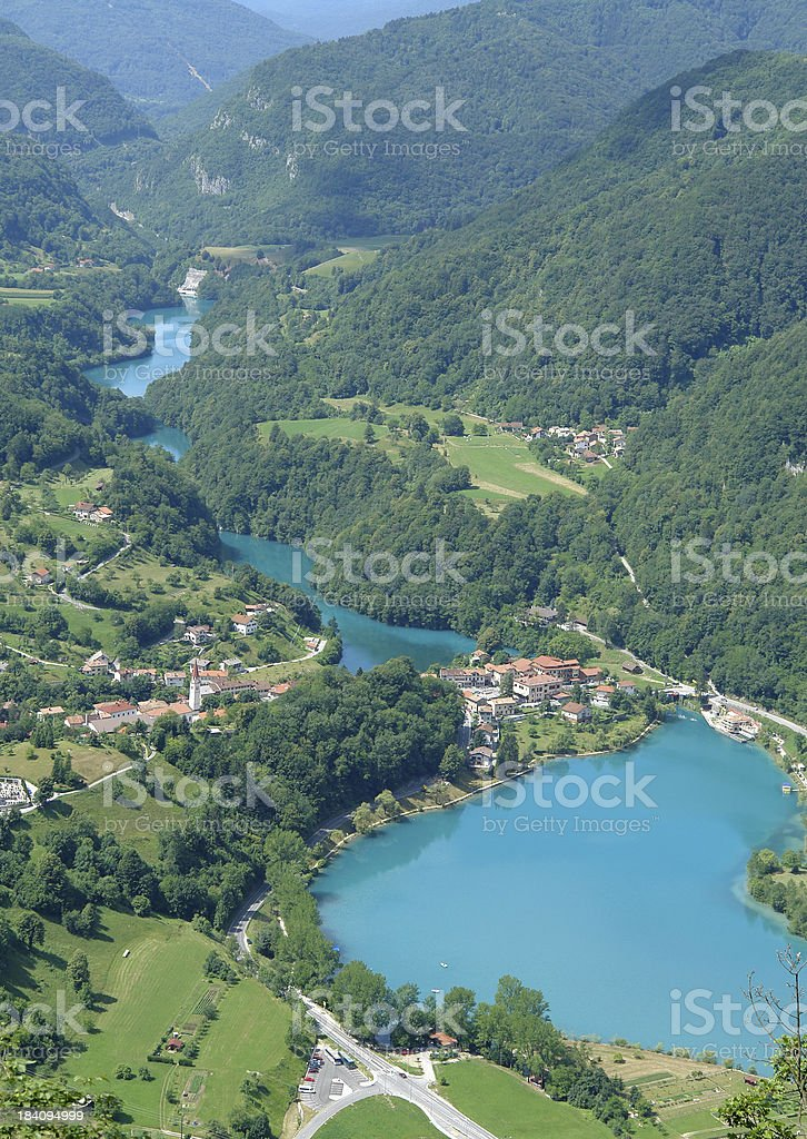 Green valley river royalty-free stock photo