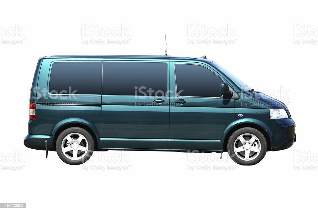 Green Van Isolated royalty-free stock photo