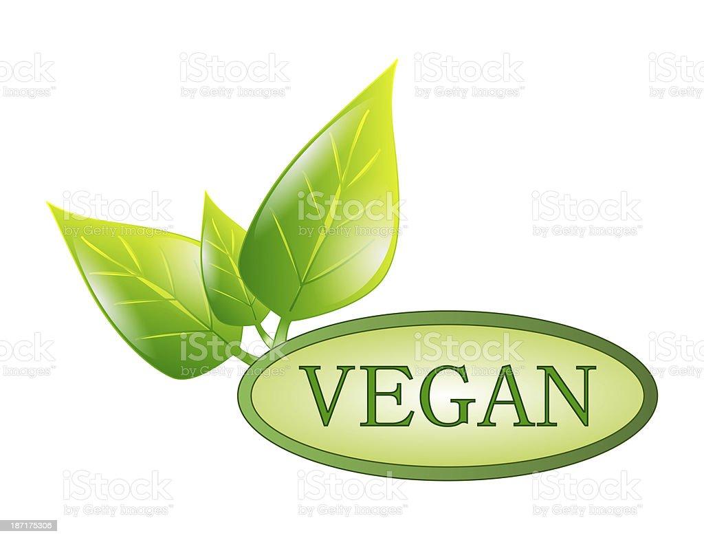 green vegan label royalty-free stock photo