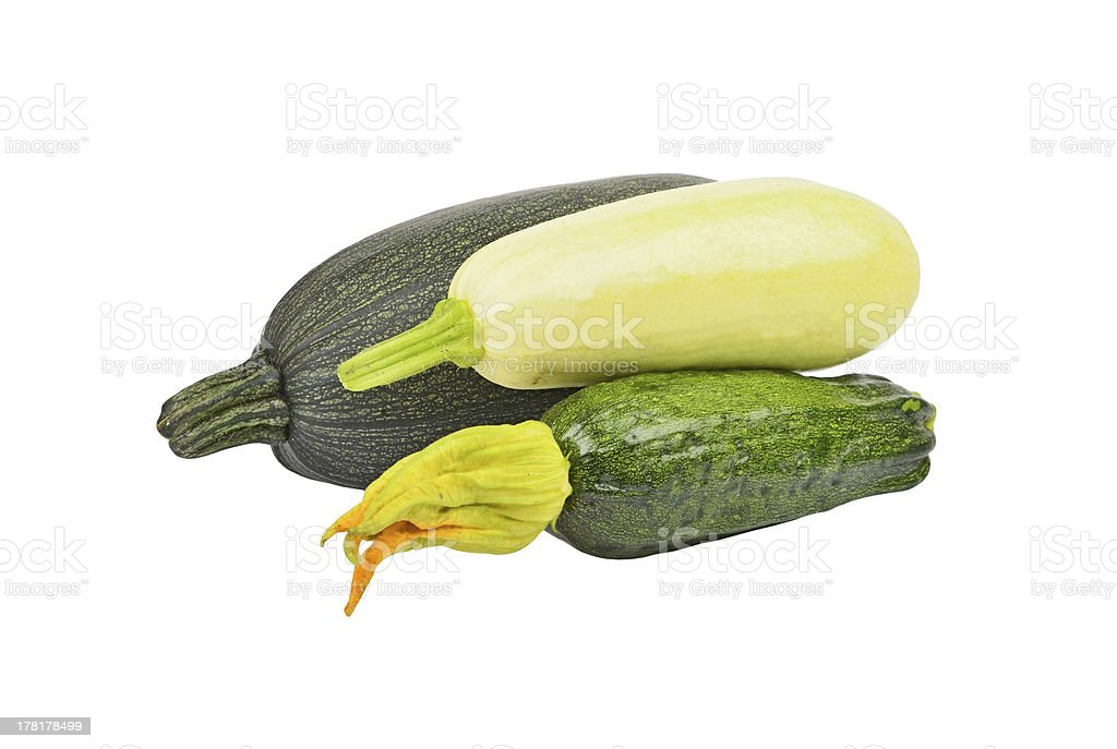 Green vegetable marrow (zucchini) royalty-free stock photo
