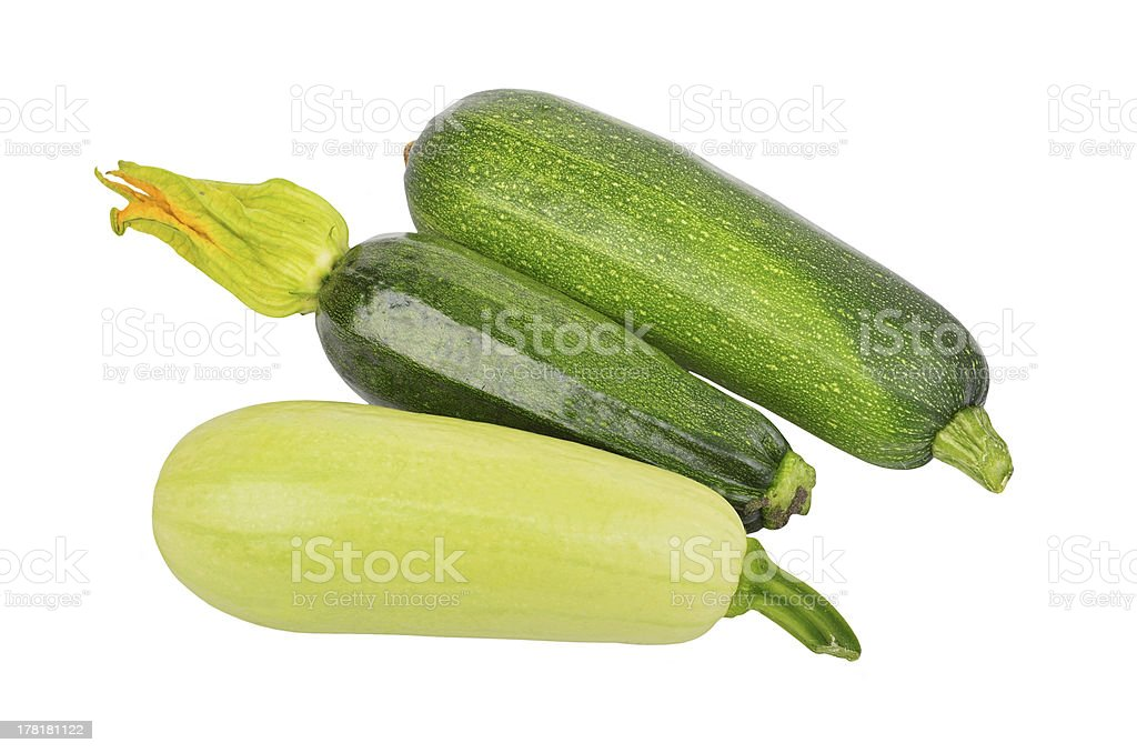 Green vegetable marrow (zucchini) royalty-free stock photo