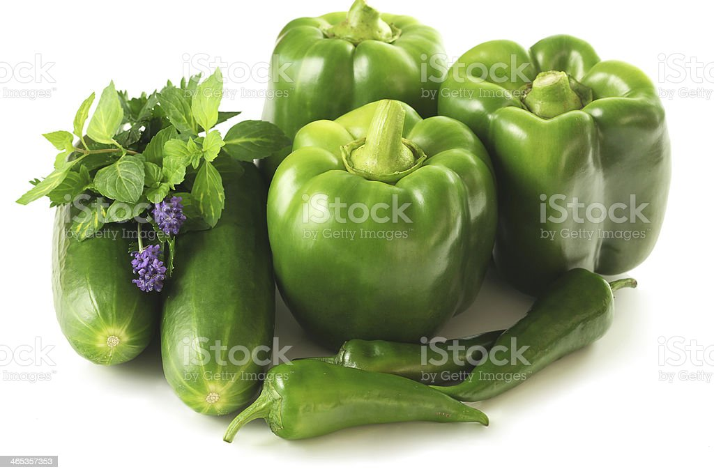 Green vegetable mix royalty-free stock photo