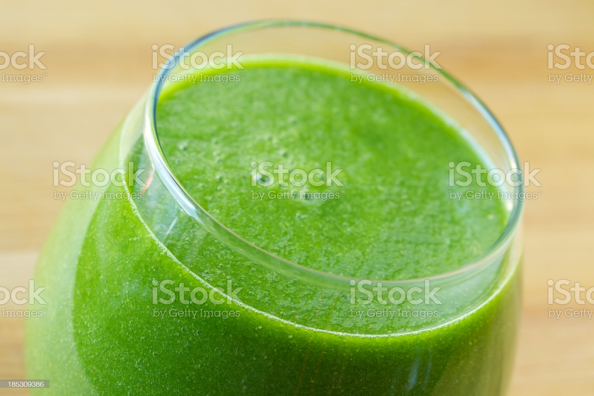 Green vegetable smoothie drink royalty-free stock photo