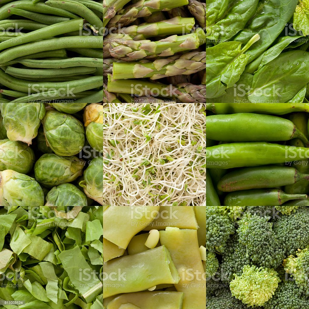 Green vegetables composition stock photo