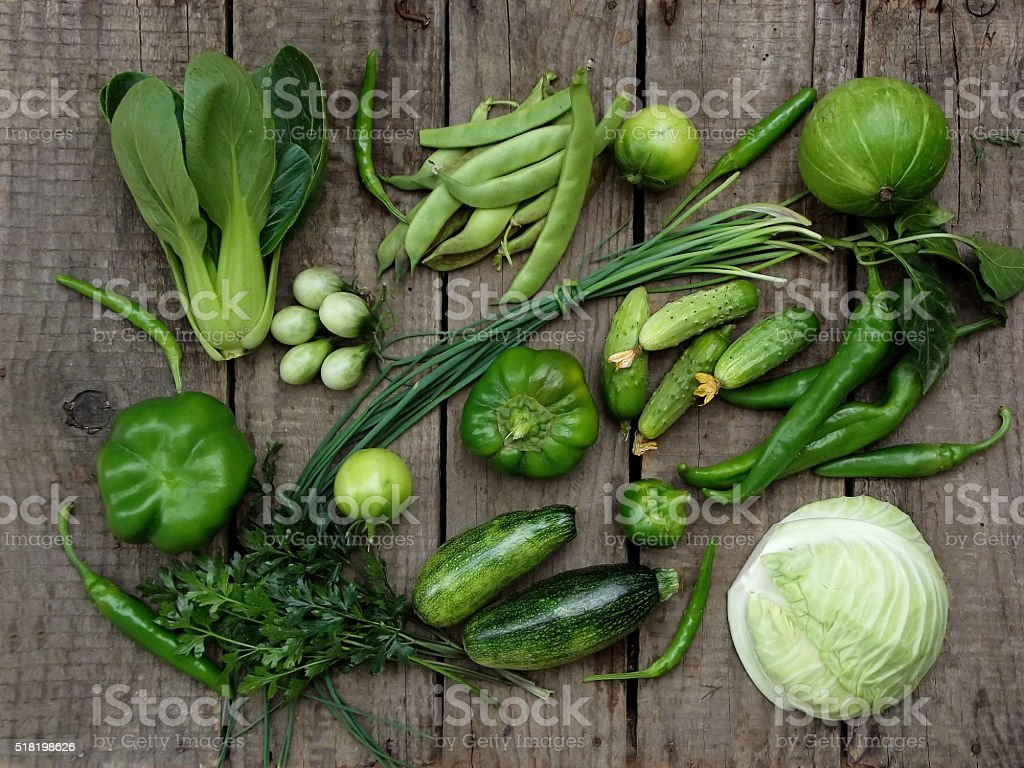 green vegetables stock photo