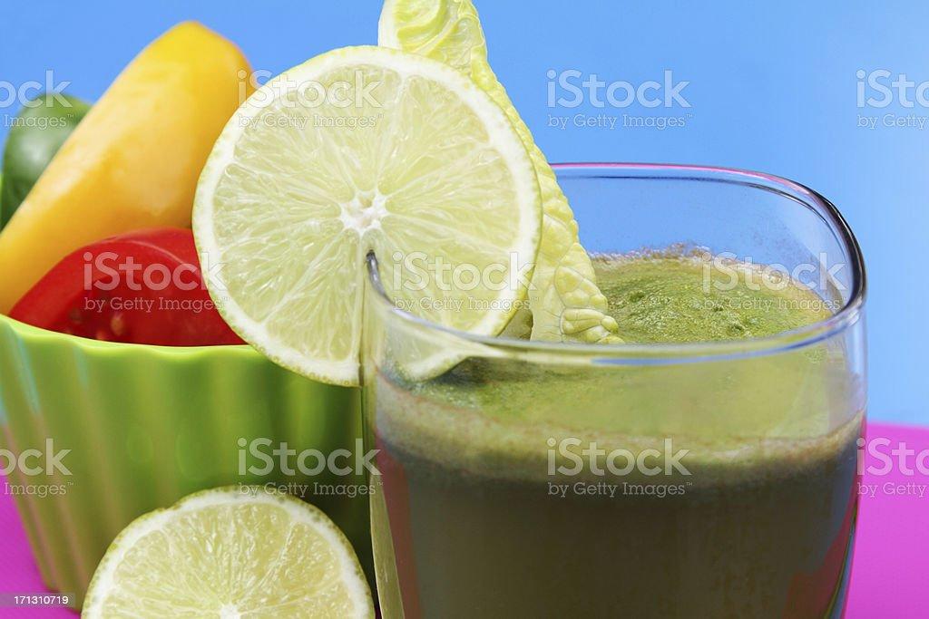 Green veggie drink royalty-free stock photo