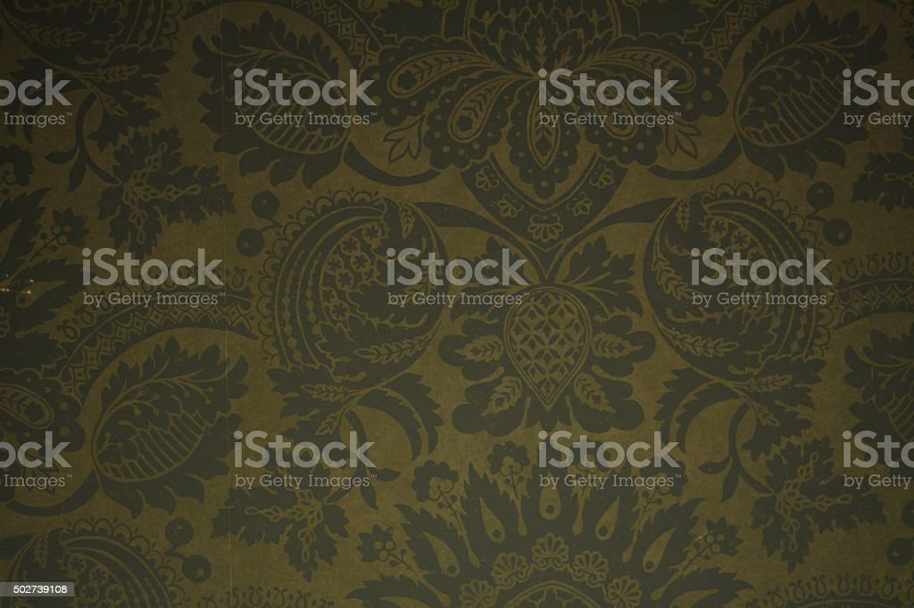 green vintage wallpaper stock photo