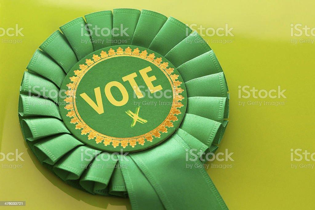 Green Vote stock photo