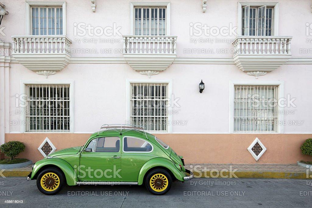 Green VW Beetle royalty-free stock photo