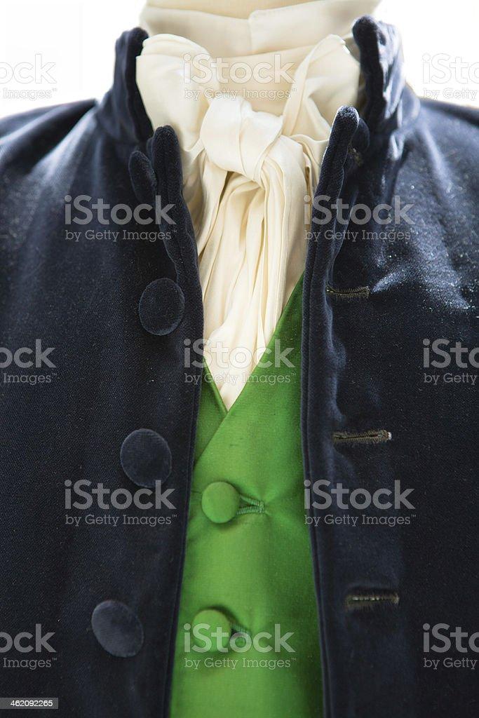 Green waistcoat stock photo