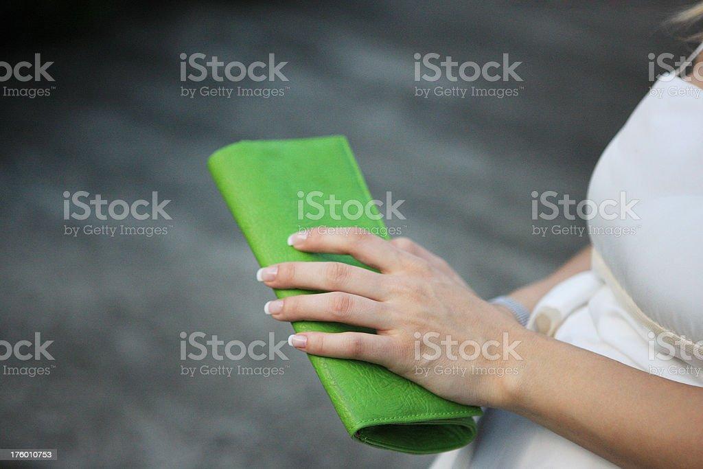 Green wallet royalty-free stock photo