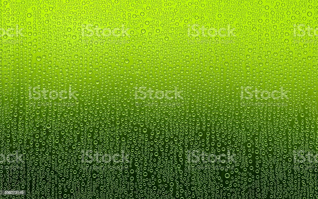 Green Water Droplets. stock photo