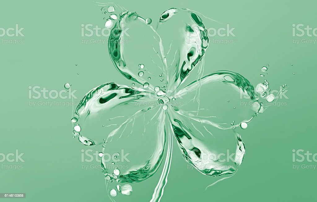 Green Water Shamrock stock photo