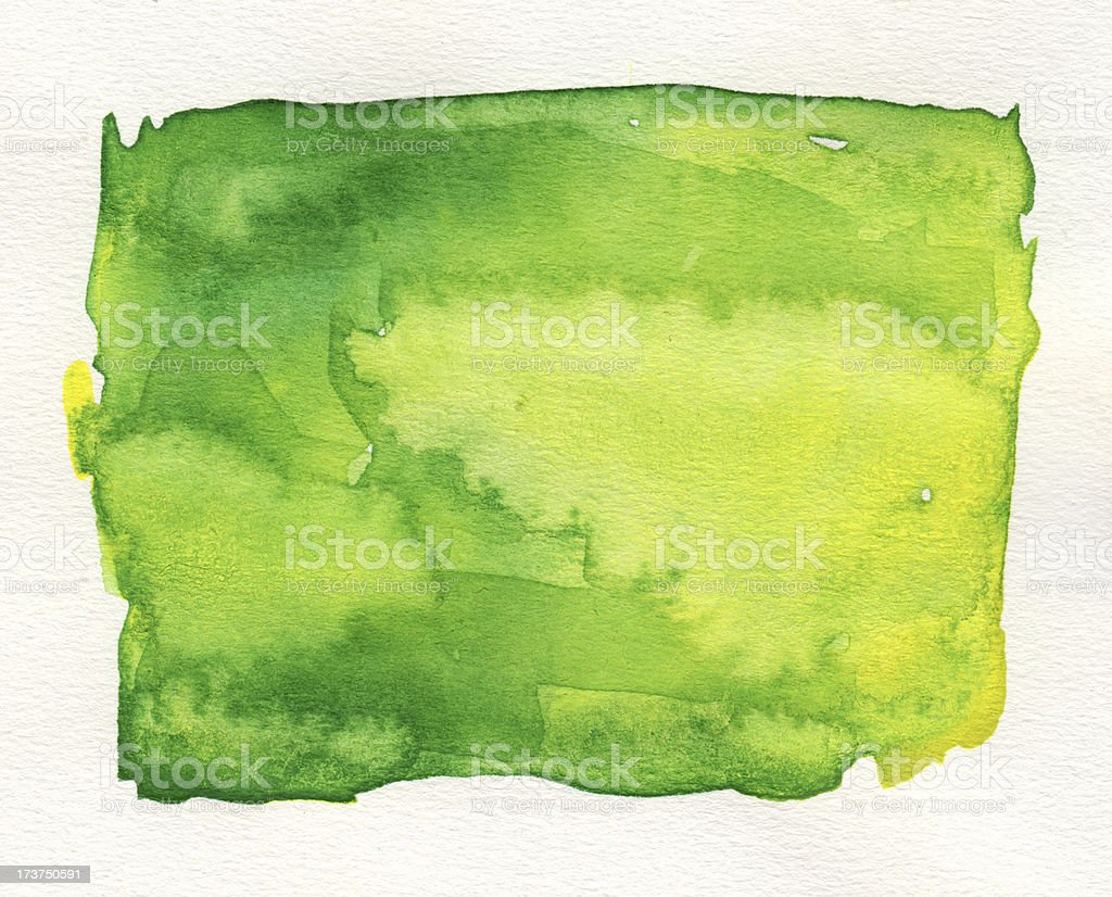 Green watercolor background royalty-free stock photo