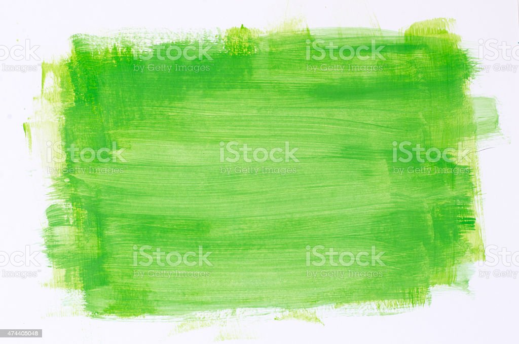 green watercolor painting texture stock photo