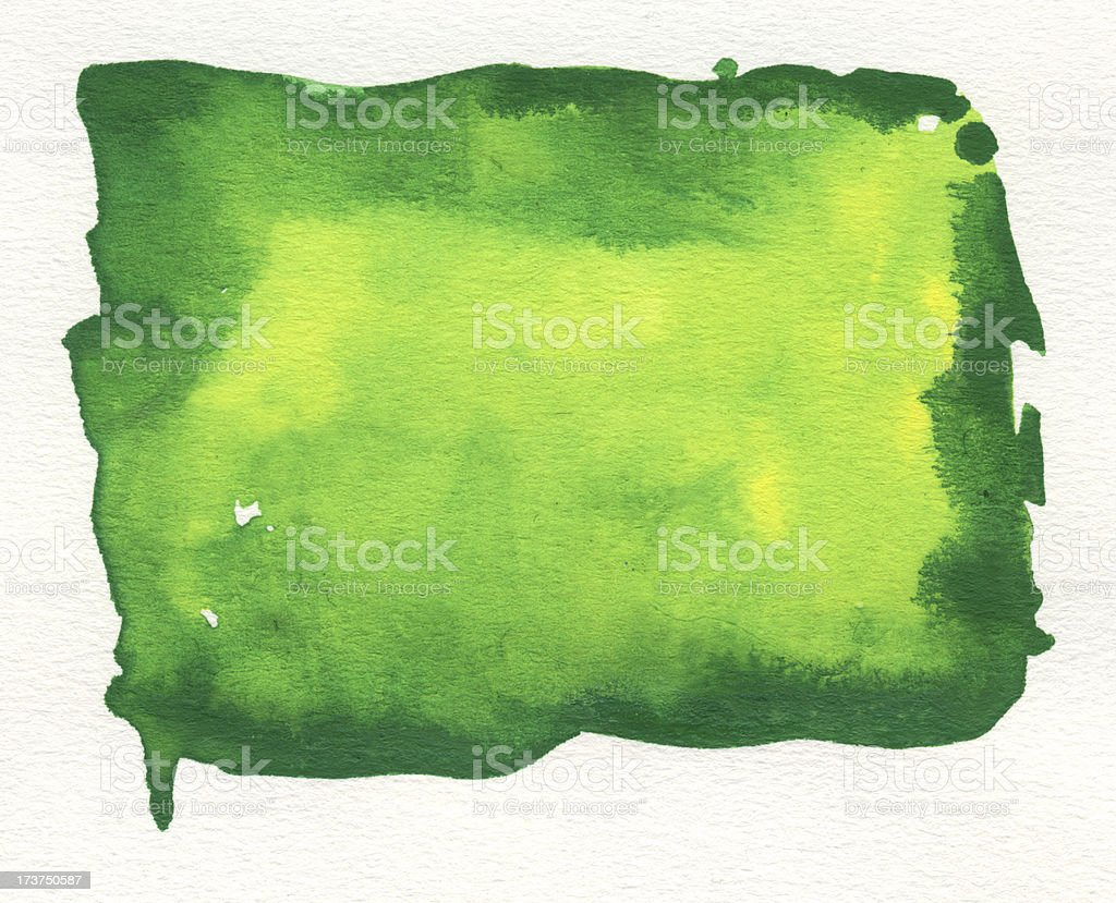 Green watercolor rectangle royalty-free stock photo