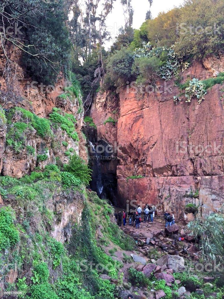 Waterfall Landscape in Mohammedia\'s Cascade