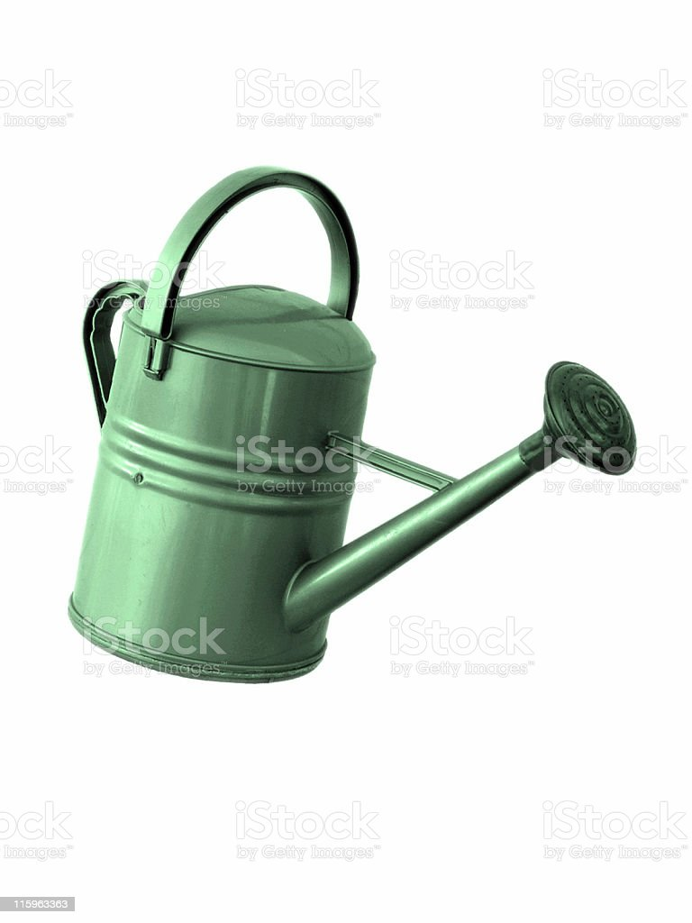 Green Watering Can - Isolated royalty-free stock photo