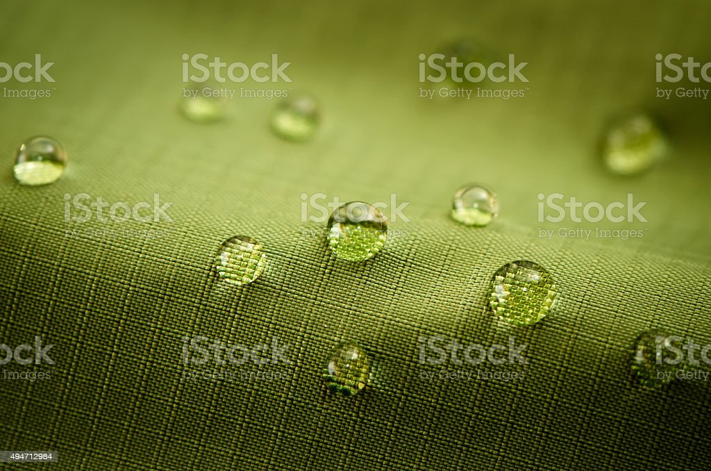 Green Waterproof Fabric stock photo