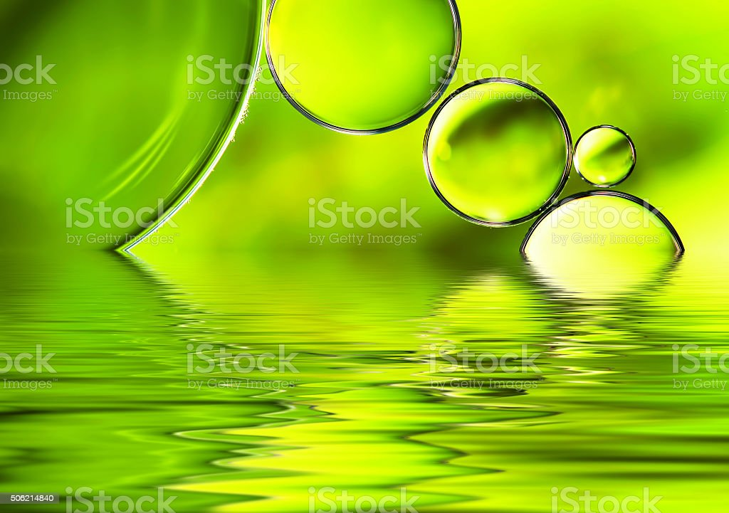 Green watery background. stock photo