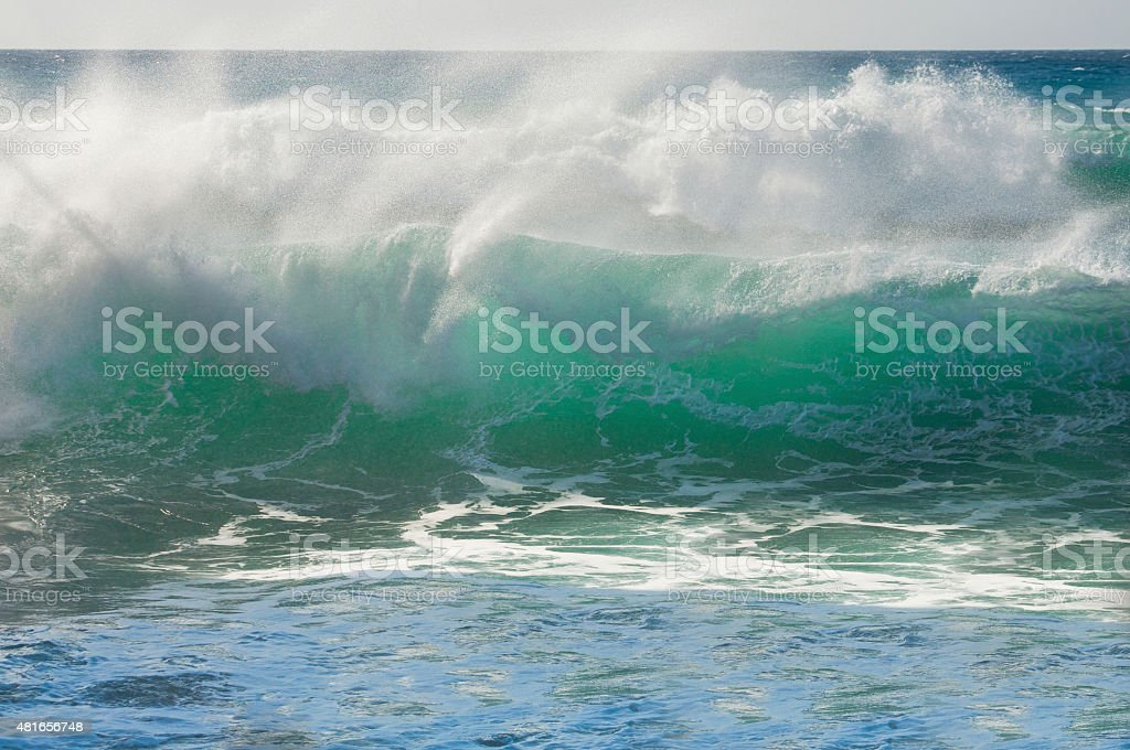 Green wave stock photo
