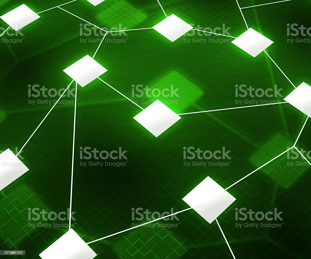 Green Web Network Image Background stock photo