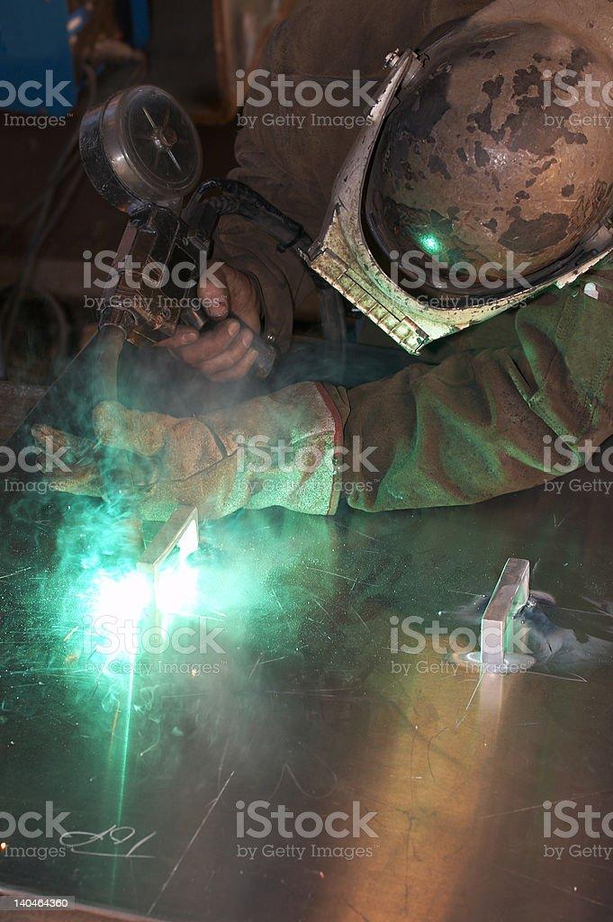 green weld stock photo