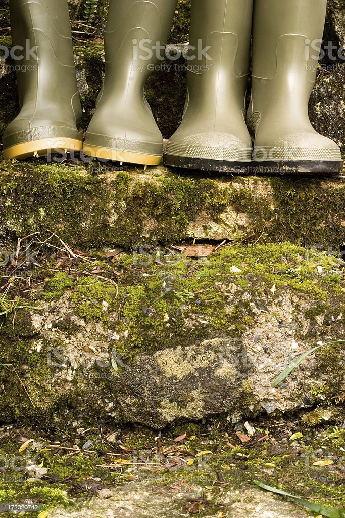 green wellies royalty-free stock photo