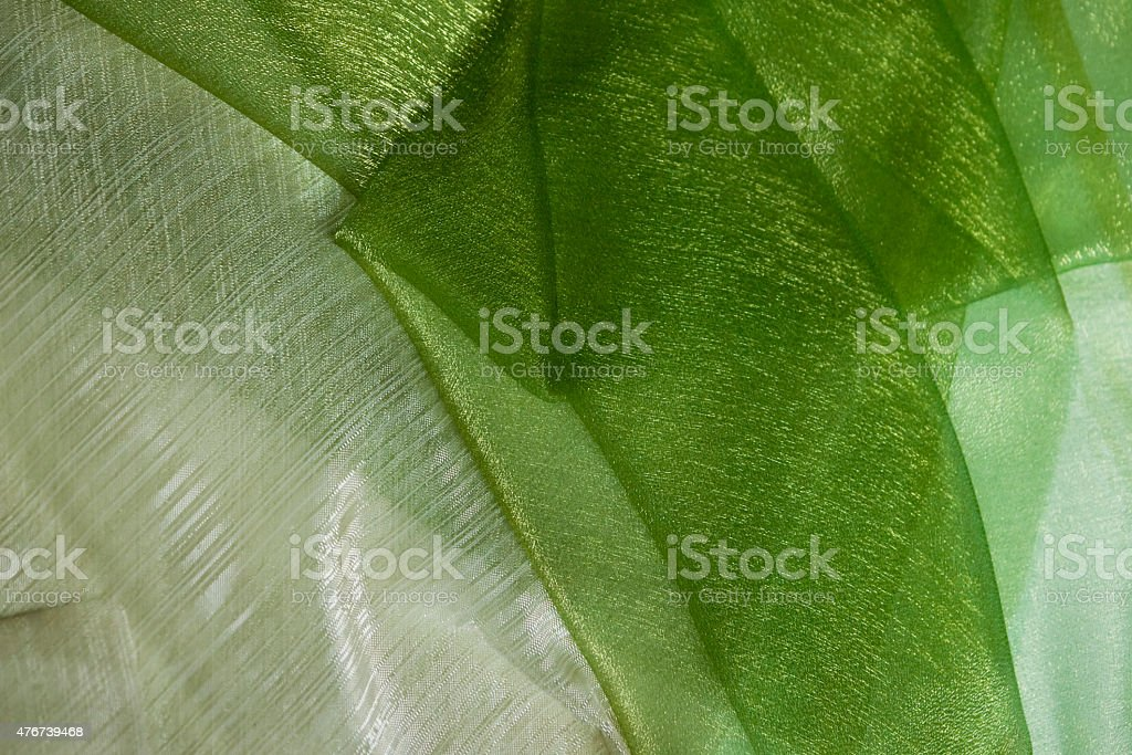 Green white light texile background stock photo