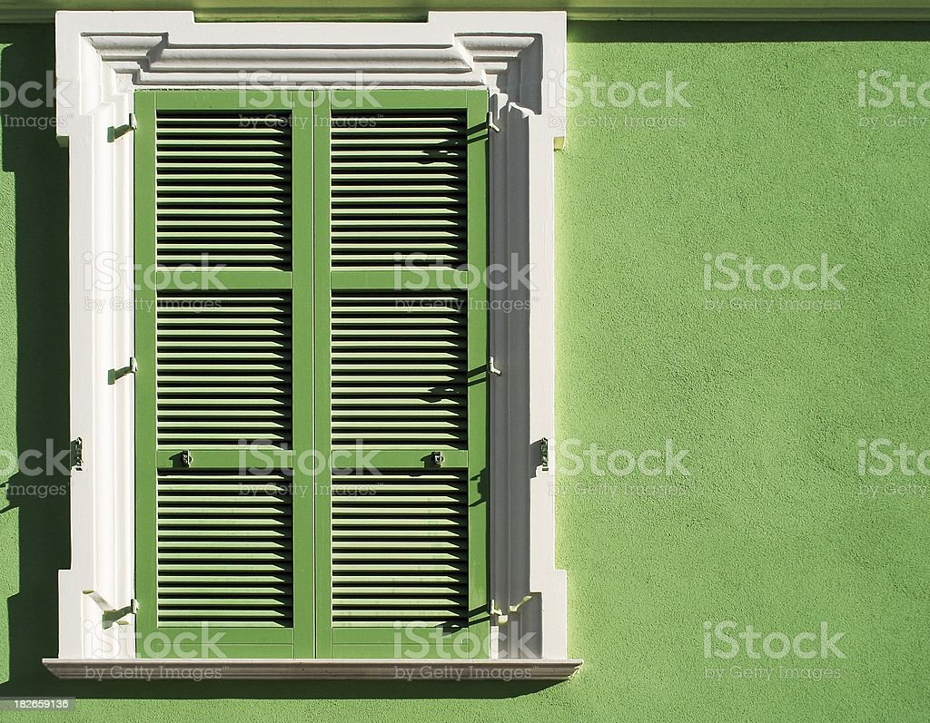 Green window 2 royalty-free stock photo