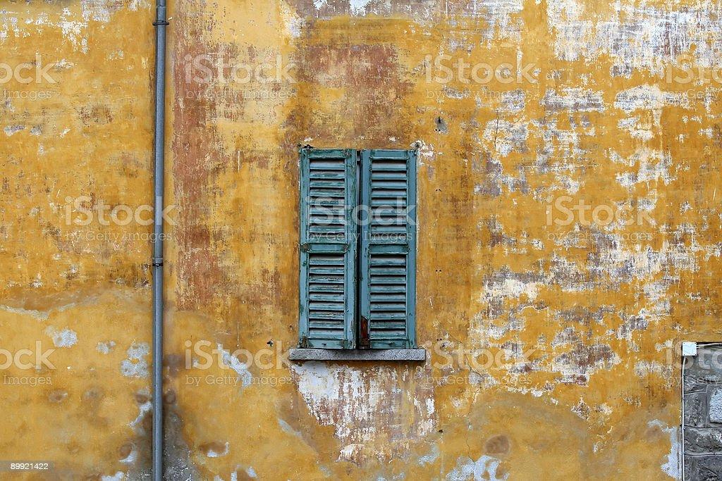 Green Window royalty-free stock photo