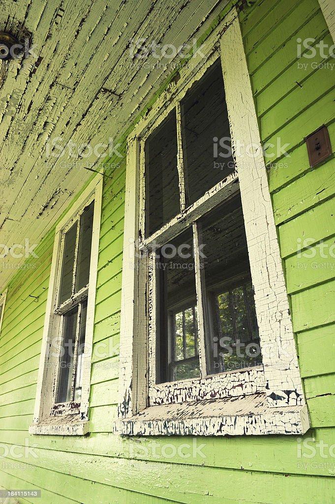Green Windows royalty-free stock photo