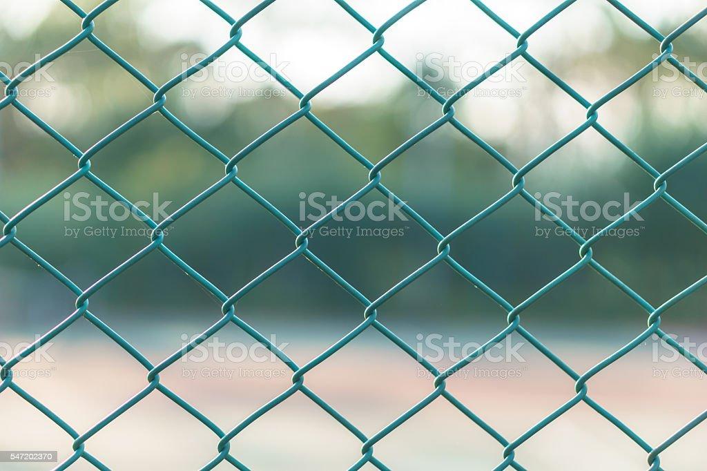 Green wire mesh steel stock photo