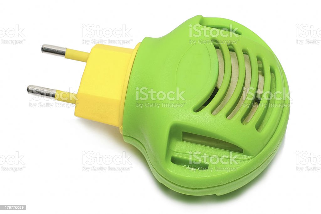 Green with yellow modern fumigator royalty-free stock photo