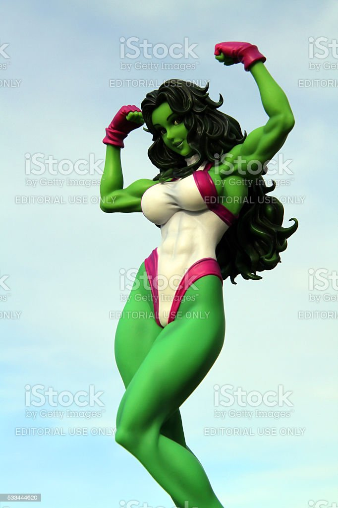 Green Woman stock photo