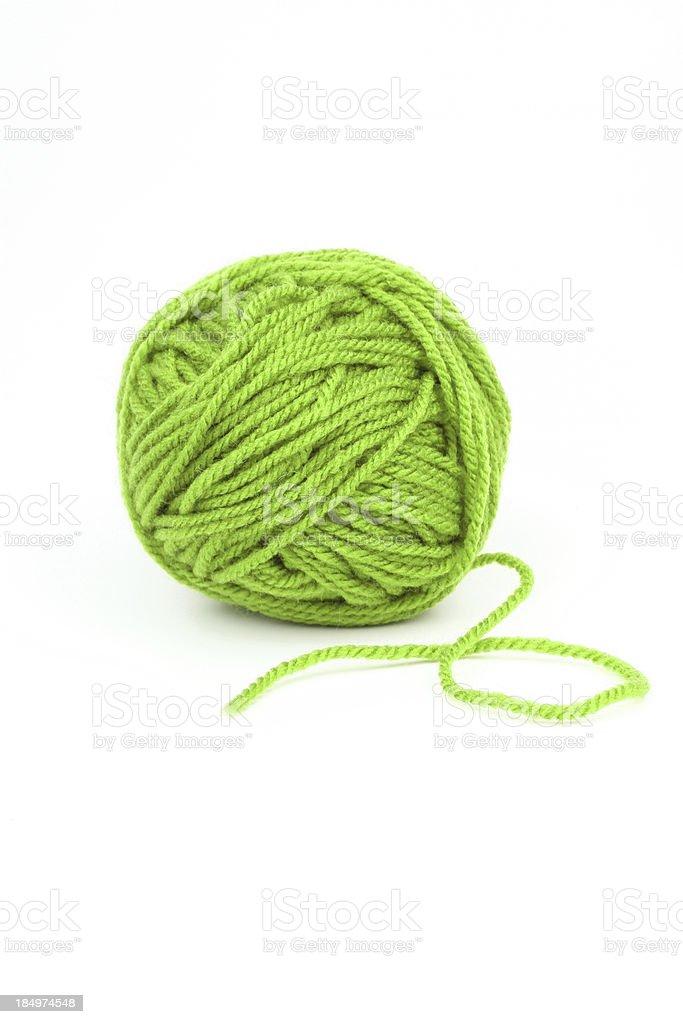 Green wool. stock photo